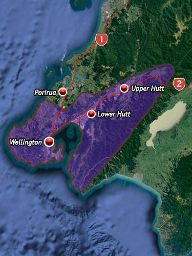 Rohe map for Te Atiawa (Wellington).
